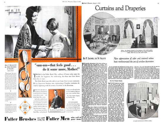 Article Preview: Curtains and Draperies, August 1930 | Maclean's