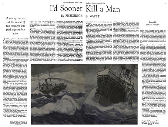 Article Preview: I'd Sooner Kill a Man, August 1930 | Maclean's
