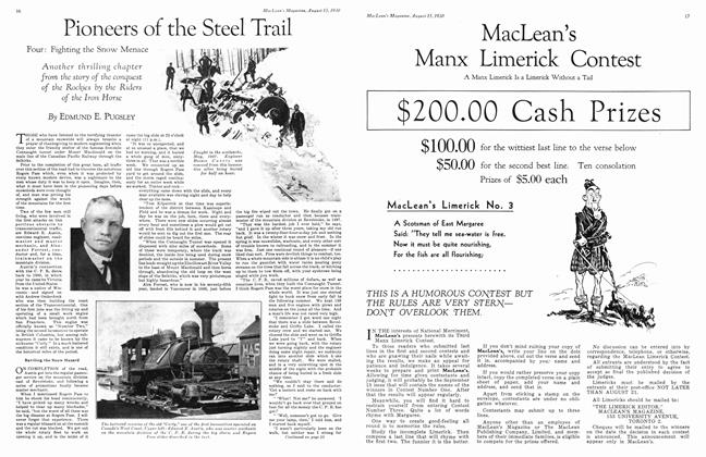 Article Preview: Pioneers of the Steel Trail, August 1930 | Maclean's