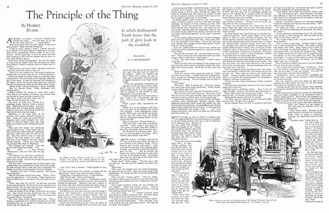 Article Preview: The Principle of the Thing, August 1930 | Maclean's