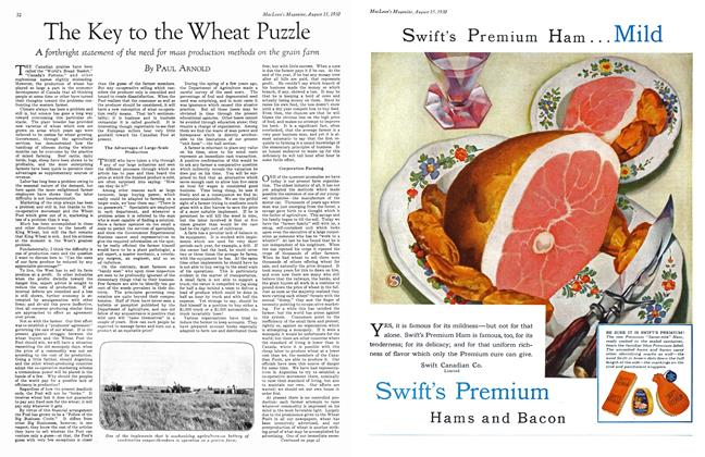 Article Preview: The Key to the Wheat Puzzle, August 1930 | Maclean's