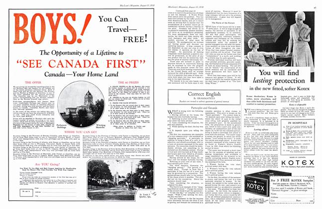 Article Preview: Correct English, August 1930 | Maclean's