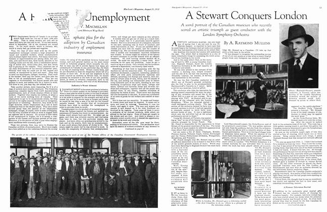 Article Preview: A Remedy For Unemployment, August 1930 | Maclean's