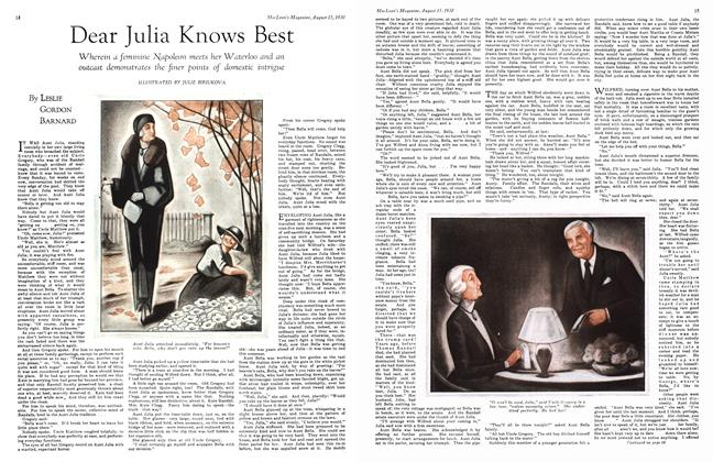 Article Preview: Dear Julia Knows Best, August 1930 | Maclean's