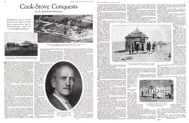 Article Preview: Cook-Stove Conquests, September 1st 1930 1930 | Maclean's