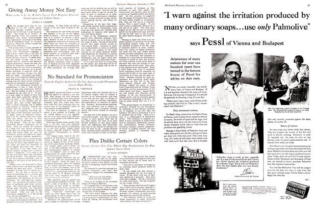 Article Preview: Flies Dislike Certain Colors, September 1st 1930 1930 | Maclean's