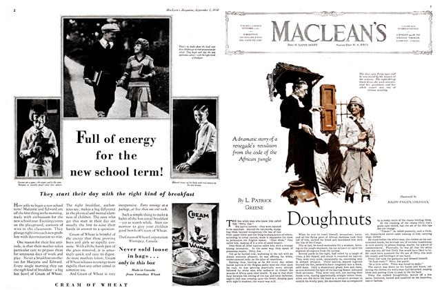 Article Preview: Doughnuts, September 1st 1930 1930 | Maclean's