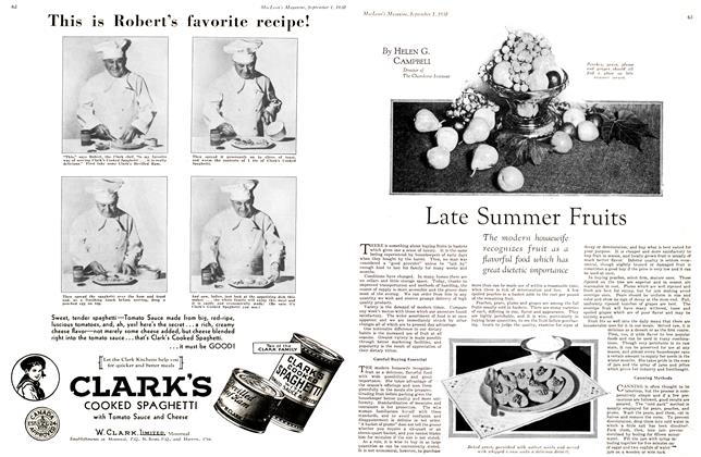 Article Preview: Late Summer Fruits, September 1st 1930 1930 | Maclean's