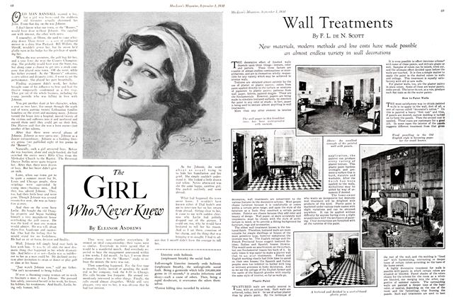 Article Preview: Wall Treatments, September 1st 1930 1930 | Maclean's