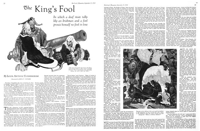 Article Preview: The King's Fool, September 1930 | Maclean's