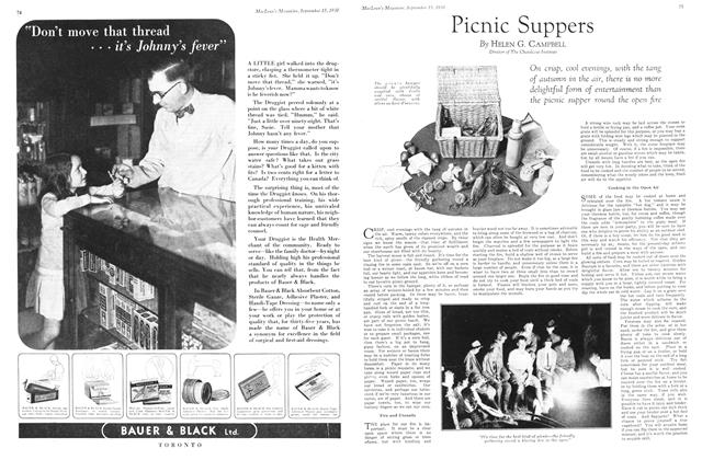 Article Preview: Picnic Suppers, September 1930 | Maclean's