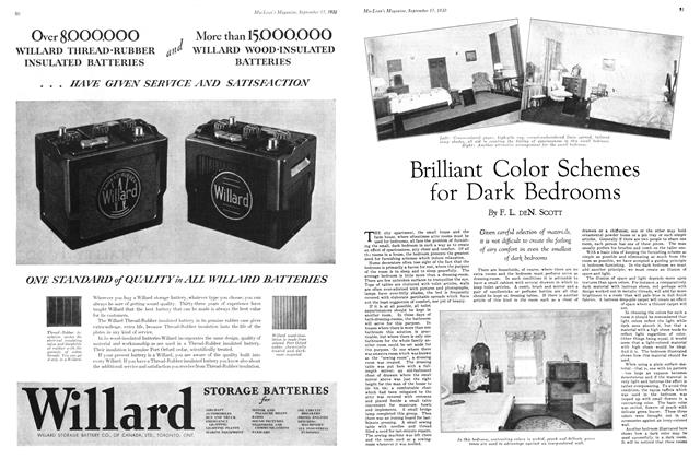 Article Preview: Brilliant Color Schemes for Dark Bedrooms, September 1930 | Maclean's