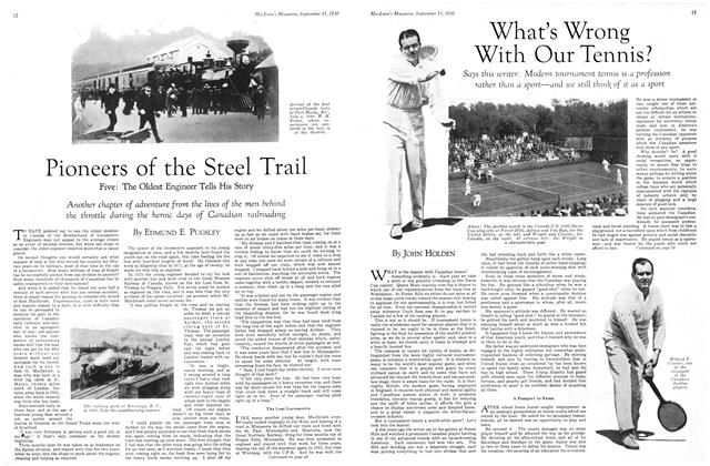 Article Preview: Pioneers of the Steel Trail, September 1930 | Maclean's