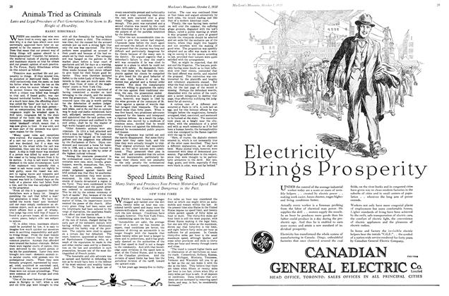 Article Preview: Speed Limits Being Raised, October 1930 | Maclean's