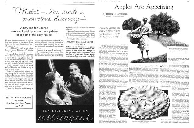 Article Preview: Apples Are Appetizing, October 1930 | Maclean's