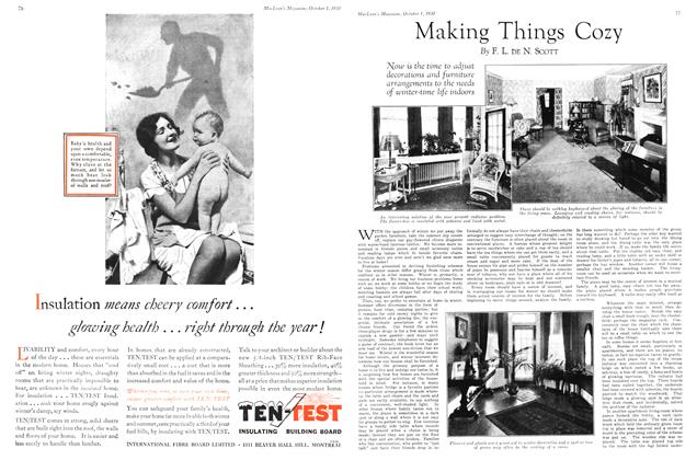 Article Preview: Making Things Cozy, October 1930 | Maclean's