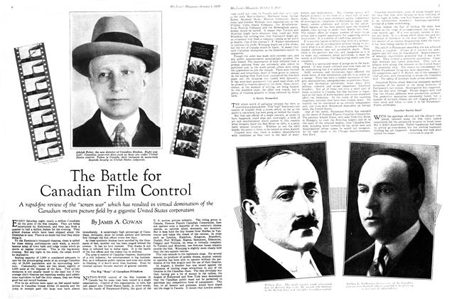 Article Preview: The Battle for Canadian Film Control, October 1930 | Maclean's