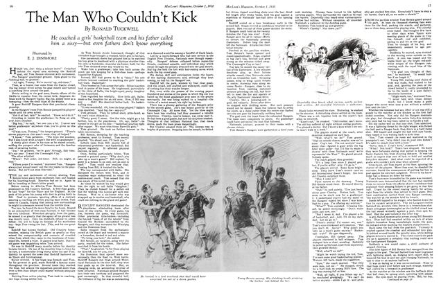 Article Preview: The Man Who Couldn't Kick, October 1930 | Maclean's