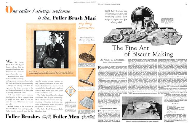 Article Preview: The Fine Art of Biscuit Making, October 1930 | Maclean's