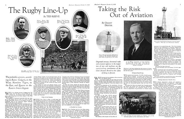 Article Preview: Taking the Risk Out of Aviation, October 1930 | Maclean's