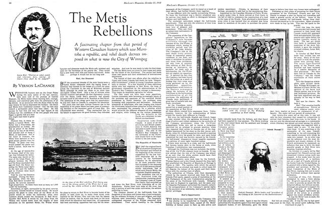 Article Preview: The Metis Rebellions, October 1930 | Maclean's