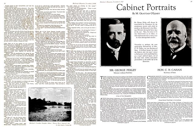 Article Preview: Cabinet Portraits, November 1st 1930 1930 | Maclean's