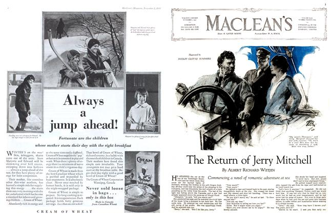 Article Preview: The Return of Jerry Mitchell, November 1st 1930 1930 | Maclean's