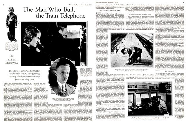 Article Preview: The Man Who Built the Train Telephone, November 1st 1930 1930 | Maclean's