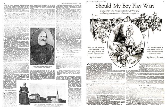 Article Preview: Should My Boy Play War?, November 1st 1930 1930 | Maclean's