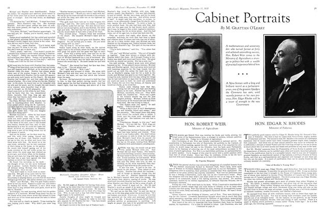 Article Preview: Cabinet Portraits, November 15th 1930 1930 | Maclean's