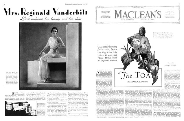 Article Preview: The TOAD, November 15th 1930 1930 | Maclean's