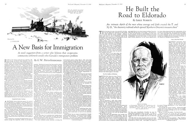 Article Preview: A New Basis for Immigration, November 15th 1930 1930 | Maclean's
