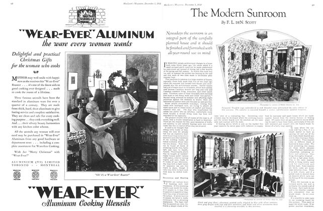 Article Preview: The Modern Sunroom, December 1st 1930 1930 | Maclean's