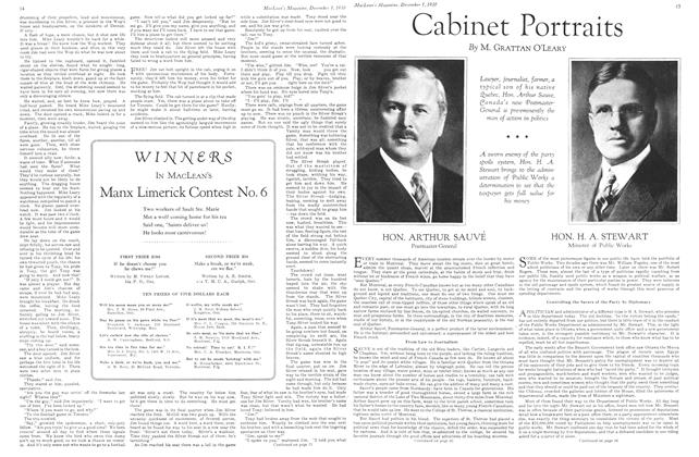 Article Preview: Cabinet Portraits, December 1st 1930 1930 | Maclean's