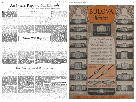 Article Preview: An Official Reply to Mr. Edwards, December 15, 1930 1930 | Maclean's