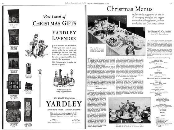Article Preview: Christmas Menus, December 15, 1930 1930 | Maclean's
