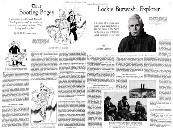 Article Preview: Lockie Burwash: Explorer, Decemder 15, 1930 1930 | Maclean's