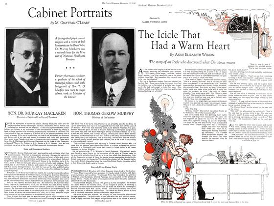 Article Preview: Cabinet Portraits, December 15, 1930 1930 | Maclean's