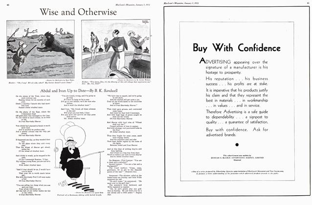 Article Preview: Wise and Otherwise, January 1st 1931 1931 | Maclean's