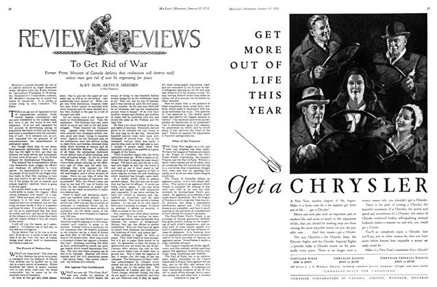 Article Preview: To Get Rid of War, January 1931 | Maclean's