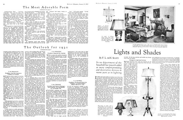 Article Preview: Lights and Shades, January 1931 | Maclean's