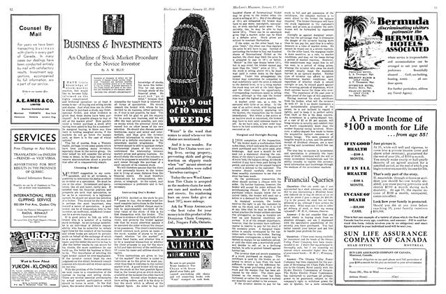 Article Preview: Financial Queries, January 1931 | Maclean's