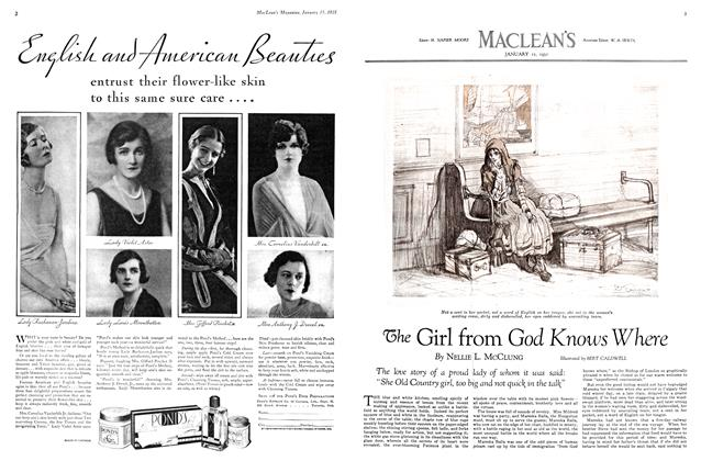 Article Preview: The Girl from God Knows Where, January 1931 | Maclean's