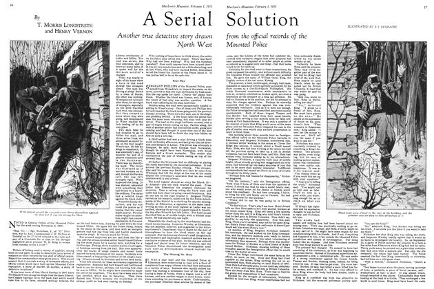 Article Preview: A Serial Solution, February 1ST 1931 1931 | Maclean's