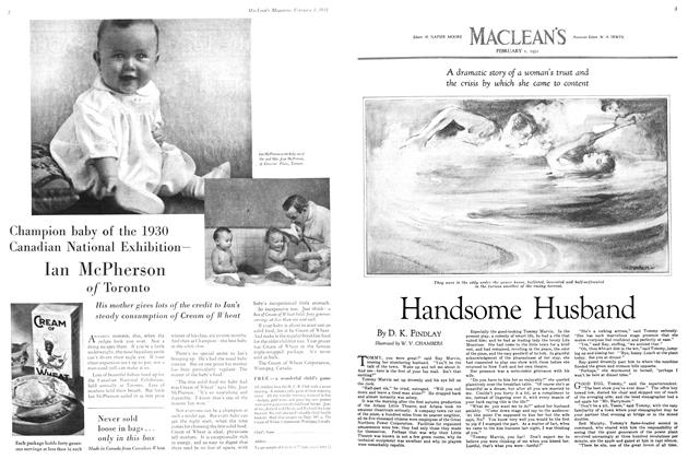 Article Preview: Handsome Husband, February 1ST 1931 1931 | Maclean's