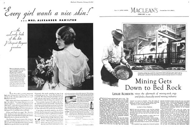 Article Preview: Mining Gets Down to Bed Rock, February 1931 | Maclean's
