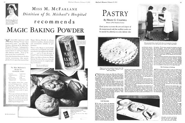 Article Preview: PASTRY, February 1931 | Maclean's