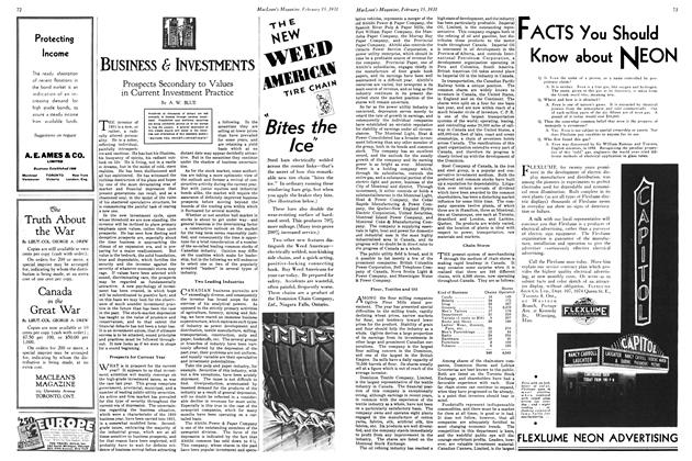 Article Preview: Prospects Secondary to Values in Current Investment Practice, February 1931 | Maclean's