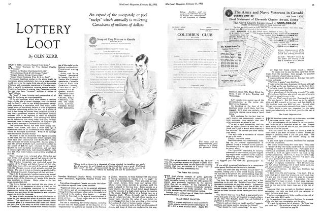 Article Preview: LOTTERY LOOT, February 1931 | Maclean's