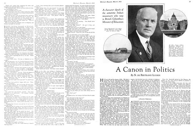 Article Preview: A Canon in Politics, March 1st 1931 1931 | Maclean's